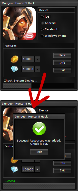 hack dungeon hunter 5 windows phone